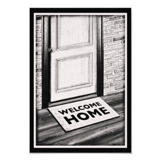fotografía casera agradable de la estera de puerta anuncio
