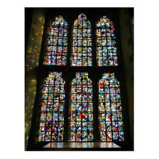 Fotografía de Barcelona del vitral de Sagrada Postal