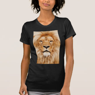 Fotografía de la cara del león camisetas