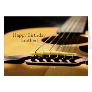 Fotografía de la guitarra acústica, feliz tarjeta de felicitación