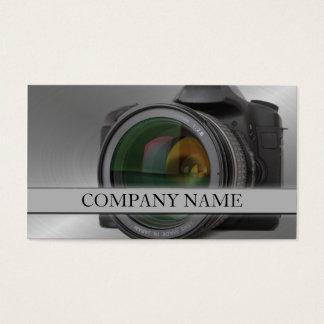 Fotografía de la lente de cámara tarjeta de negocios
