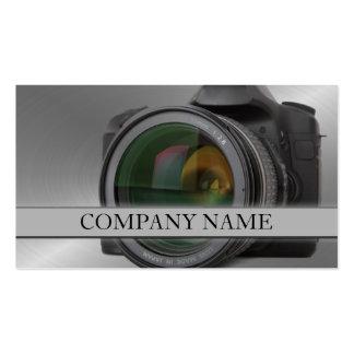 Fotografía de la lente de cámara tarjetas de visita