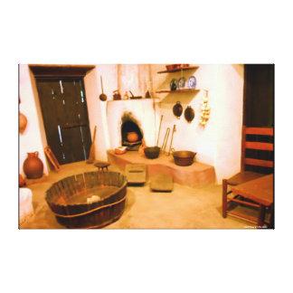 FOTOGRAFÍA de la LONA - COCINA de la MISIÓN de los Lona Estirada Galerías