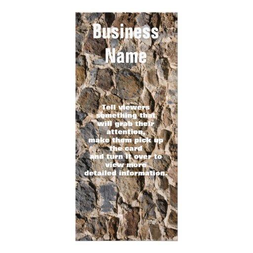 Fotografía de la pared de la roca tarjetas publicitarias personalizadas