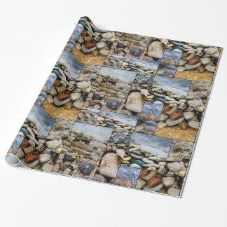 Fotografía de la piedra de la playa de Great Lakes Papel De Regalo