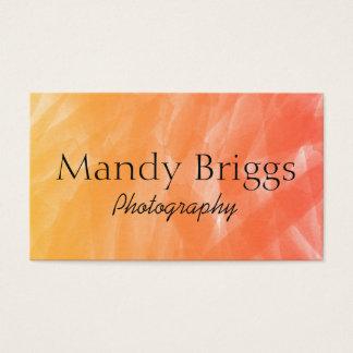 Fotografía de la pintura de la acuarela del rojo tarjeta de visita