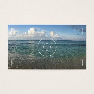 Fotografía de la playa tarjeta de visita