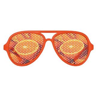 Fotografía de los naranjas gafas de fiesta