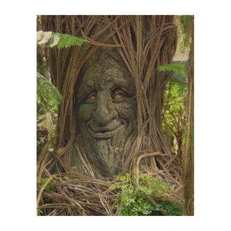Fotografía de madera de la cocina impresión en madera