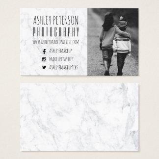 Fotografía de mármol blanca moderna de los medios tarjeta de visita