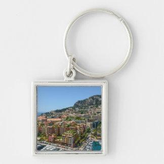 Fotografía de Mónaco Monte Carlo Llavero Cuadrado Plateado