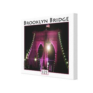 Fotografía del aniversario del puente de Brooklyn Impresión En Lienzo