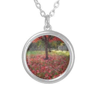 Fotografía del árbol de arce rojo collar plateado