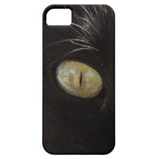 Fotografía del ojo del amarillo del verde del gato iPhone 5 Case-Mate coberturas