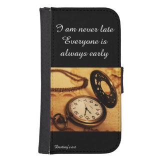 Fotografía del reloj de bolsillo del vintage cartera para galaxy s4