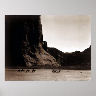Fotografía del vintage de Canyon de Chelly Póster