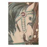 Fotografía del vintage del caballo del tiovivo fal plantillas de tarjetas de visita