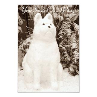 fotografía divertida del navidad del muñeco de invitación 8,9 x 12,7 cm