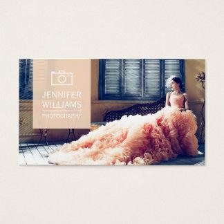 Fotografía elegante del fotógrafo del boda tarjeta de visita