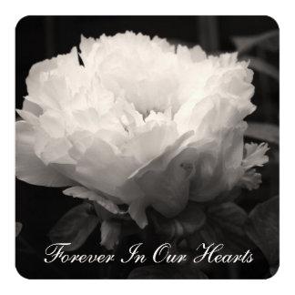 Fotografía floral 2 del Peony - invitación fúnebre Invitación 13,3 Cm X 13,3cm