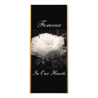 Fotografía floral 3 del Peony - invitación fúnebre Invitación 10,1 X 23,5 Cm