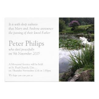 Fotografía floral del jardín - invitación fúnebre