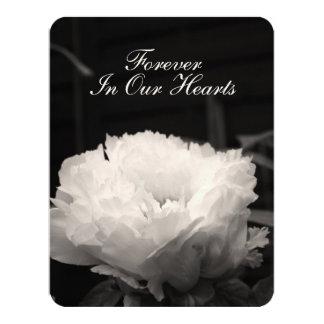 Fotografía floral del Peony 1 invitación fúnebre