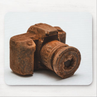 Fotografía fresca de la cámara del chocolate alfombrilla de ratón