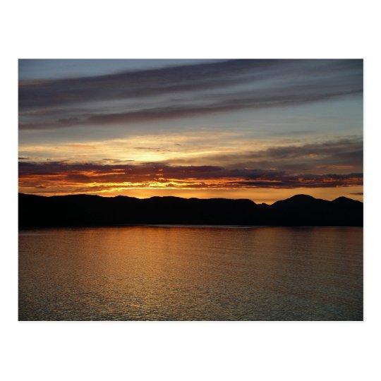 Fotografía hermosa de la puesta del sol II de Postal