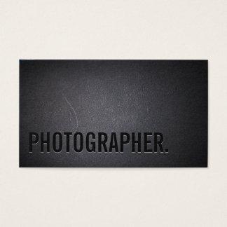 Fotografía intrépida minimalista del texto del tarjeta de visita