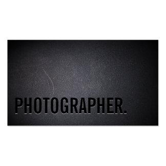 Fotografía intrépida minimalista del texto del tarjetas de visita