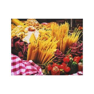 Fotografía italiana de la comida, decoración de la impresión en lona