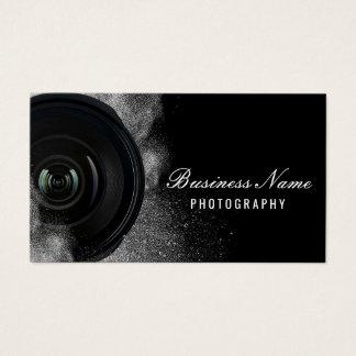 Fotografía negra y blanca de la cámara del tarjeta de visita