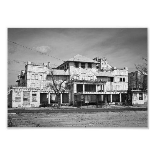 """Fotografía original del """"hotel metropolitano"""" cojinete"""