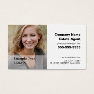 Fotografía personalizada, agente inmobiliario, tarjeta de negocios