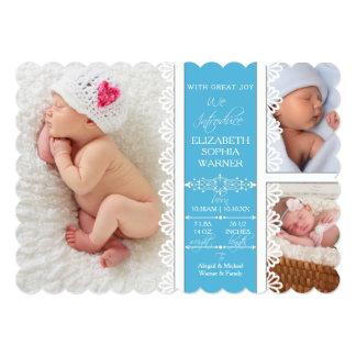 Fotografía recién nacida de la niña del cordón comunicado personal
