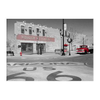 Fotografía roja del chapoteo de Winslow Arizona Impresión Acrílica