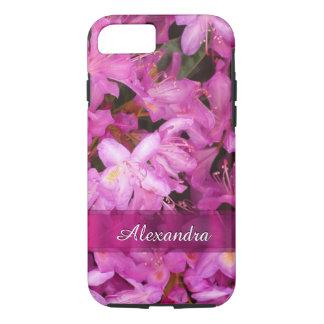 Fotografía rosada bonita personalizada de la flor funda iPhone 7
