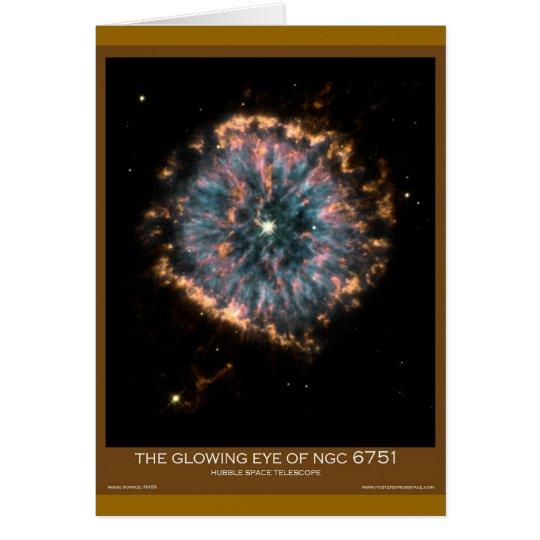 Fotografías asombrosas del telescopio espacial de tarjeta de felicitación
