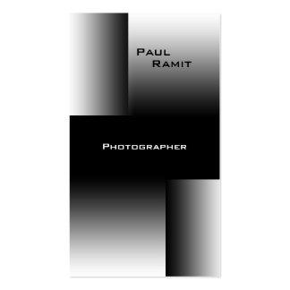 Fotógrafo blanco negro de BW 7 de la tarjeta de Tarjetas De Visita