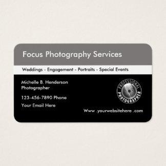 Fotógrafo blanco y negro tarjeta de negocios