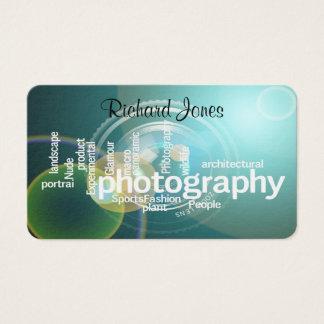 Fotógrafo de Bokeh de la tipografía de Photagraphy Tarjeta De Negocios