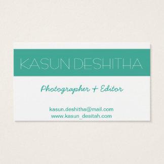 fotógrafo de la menta tarjeta de negocios