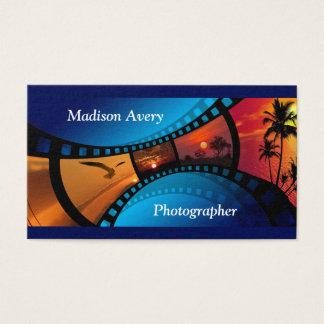 Fotógrafo de las fotos de la película de la tarjeta de negocios