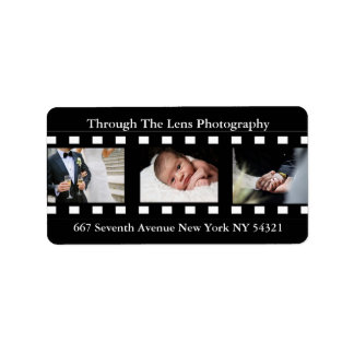 Fotógrafo de las fotos de los marcos de película etiquetas de dirección