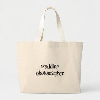 Fotógrafo del boda bolsa tela grande