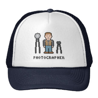 Fotógrafo del pixel gorro