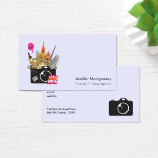 Fotógrafo europeo del viaje de las señales tarjeta de visita