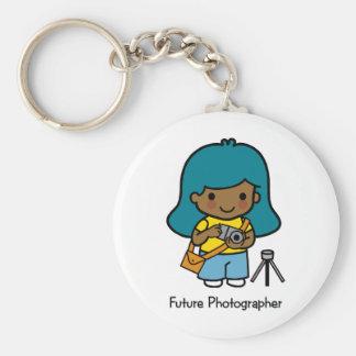 Fotógrafo futuro - chica llavero redondo tipo chapa