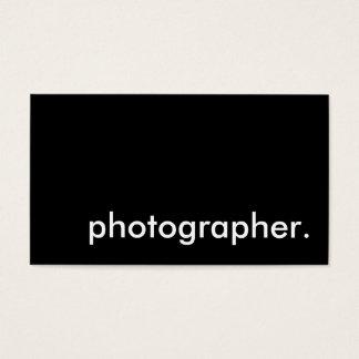 fotógrafo tarjeta de negocios